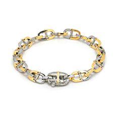 #Baraka 18K Yellow & White #Gold #Diamond Link #Bracelet