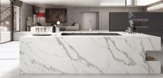 More calacatta quartz worktops Calcatta Quartz, Calacatta Gold, Bath Trends, Calcutta Marble, Quartz Kitchen Countertops, Bathroom Countertops, Kitchen Backsplash, Küchen Design, Interior Design
