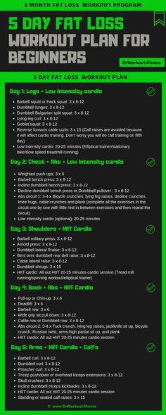 workout plan for beginners - workout plan ; workout plan for beginners ; workout plan for women ; workout plan to lose weight gym ; workout plan to lose weight at home ; workout plan to tone 5 Day Workout Plan, Gym Workout Plan For Women, Gym Workouts For Men, Weekly Workout Plans, Workout Plan For Beginners, Fun Workouts, Weekly Gym Workouts, Workout Programs For Men, Gym Plan For Women