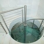 Glass Spiral Staircase - Penthouse in Miami Design District | Bella Stairs Spiral Staircase, Staircase Design, Stainless Steel Rod, Second Floor, Small Spaces, Miami, Stairs, Glass, Modern