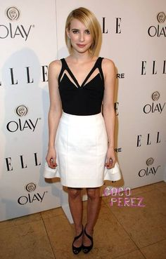 Emma Roberts at Elle's annual Women in Television celebration - love her outfit, classy & classic!