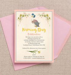 This stunning photo shoot was for a naming ceremony, featuring our Beatrix Potter invitations and stationery. Christening Party, Christening Invitations, Birthday Invitations, Beatrix Potter, Baby Names Flowers, Kids Stationery, Name Day, Postcard Size, Personalized Invitations
