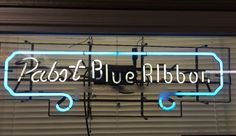 Vintage 1960's Pabst Blue Ribbon Neon Sign