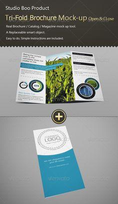 Tri-Fold Brochure / Catalog Mock-up Open & Close - Brochure Mockup Template by X-Mail. Psd Templates, Design Templates, Tuesday Motivation, Tri Fold, Presentation Templates, Booklet, Mockup, Catalog, Author