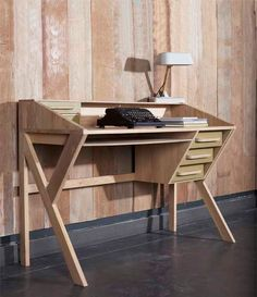 Plywood Furniture Plans Solid Wood New Ideas Plywood Furniture, Furniture Plans, Office Furniture, Cool Furniture, Office Desk, Furniture Design, Origami Furniture, Plywood Floors, Futuristic Furniture