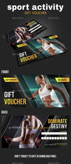 Sport Activity Gift Voucher Template PSD. Download here: http://graphicriver.net/item/sport-activity-gift-voucher-07/15299992?ref=ksioks