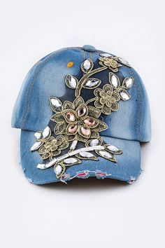 FLOWER APPLIQUE FASHION HAT STARTING AT $14.99 AND FREE SHIPPING EVERDAY...EXCELLENT CUSTOMER SERVICE ALSO CHECK OUT SALE ITEMS ON EBAY...GO TO WWW.LUCYSGIFTBOUTIQUE.COM
