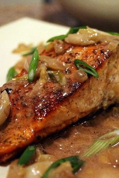 Spicy Salmon with Caramelized Onions.