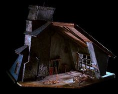 La Boheme. Model. Scenic design by Shawn Fisher.