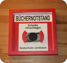 DIE Gutscheinidee für Leseratten – Presents for boyfriend diy Presents For Boyfriend, Boyfriend Gifts, Gifts For Dad, Craft Stick Crafts, Easy Crafts, Diy And Crafts, Gifts For Bookworms, Diy For Men, Diy Birthday