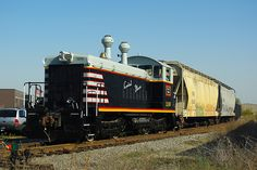 An EMD SW9 is a diesel switcher locomotive built by General Motors Electro-Motive Division between January 1951 and December 1953. Additional SW9s were built by General Motors Diesel in Ontario Canada from December 1950 to March 1953. Power was provided by an EMD 567B 12-cylinder engine, producing 1,200 horsepower (895 kW). In addition, ten TR5 cow-calf paired sets were produced (eight for the Union Pacific Railroad, and two for the Union Railroad of Pittsburgh, Pennsylvania. The Union…