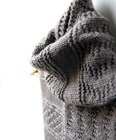 """Inspired by traditional Guernsey (""""gansey"""") sweaters, this easy textured scarf is a great beginner knitting pattern. Gansey Scarf from Idiot's Guide Knitting"""