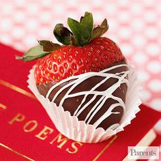 Love at First Bite: Valentine's Day Treats: Double-Dipped Strawberries (via Parents.com)