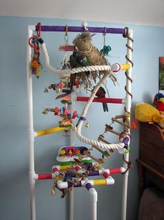 I REALLY like this one! #parrot #macaw #perch #diy