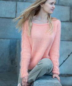 Нежная и шикарная ангора Анни Блатт (Франция) цвета лосось. Пуловер в…