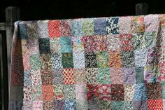 This quilt has been a long time coming! I started collecting pieces of Liberty of London fabrics several years ago – just tiny pieces here and there, hoping that one day I'd have enough… Liberty Of London Fabric, Liberty Fabric, Liberty Quilt, Quilted Table Runners, Square Quilt, Have Time, Craft Projects, Crafty, Quilts