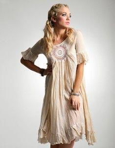 Sestra Moja Handmade Antique Lace Emily Dress $252.42
