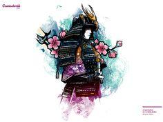 Camiseta 'A Samurai e a Cerejeira'. http://cami.st/p/1463