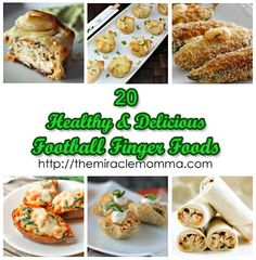 "20 healthy and delicious football finger foods - ""might"" need to refer back to this Superbowl Sunday.  Come on Seahawks!"