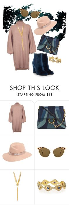 """Wood"" by rita-coppola on Polyvore featuring moda, River Island, Chloé, Maison Michel, Ahlem, BERRICLE e Sydney Evan"