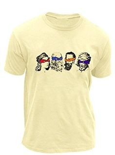 Teenage Mutant Ninja Turtles Real Artists and Face Masks Adult Cream T-Shirt Cream T Shirts, Martial Artists, Teenage Mutant Ninja Turtles, Halloween Gifts, Branded T Shirts, Fashion Brands, Mens Tops, Cotton, Face Masks