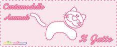 Cartamodelli Gatto da stampare gratis: 3 sagome di gatti di varie misure da ritagliare su stoffa, feltro, pannolenci o carta per applicazioni e decorazioni.