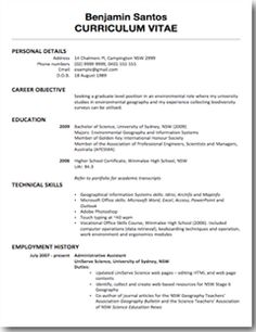 EXAMPLE SCIENCE CVS AND COVER LETTERS