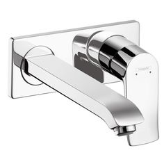 Hansgrohe 31086001 Metris E Wall Mount Single Handle Faucet - Chrome (Bathroom Faucets - Bathroom Sink Faucets - Wall Mount Faucets)