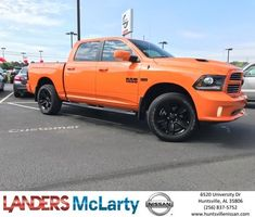 2017 Dodge Ram 1500 Sport is a top notch truck you won't have a problem standing out because this Ram is a head turner! Equipped with a 5.7L HEMI as well as 4WD. There are tons of awesome features on this truck if you would like more info give me a call Weston Callahan 256-683-3875  https://deliverymaxx.com/DealerReviews.aspx?DealerCode=RKUY  #Ram #Hemi #4x4 #Orange #Sporty #LandersMcLartyNissan