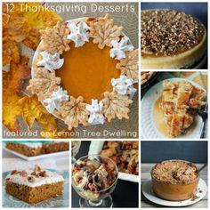 12 Delicious Thanksgiving Desserts!