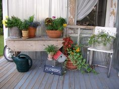 I am going to do the plant table on the patio next summer--maybe even with mums this fall.