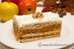 See related links to what you are looking for. Romanian Desserts, Romanian Food, Upside Down Apple Cake, German Apple Cake, Cakes And More, Caramel Apples, Vanilla Cake, Food To Make, Cheesecake