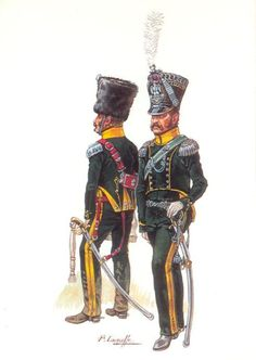 chasseurs à cheval 6ème rgt Officier Subalterne - Tenue campagne- Major - Grande tenue