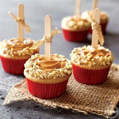 Spiced Caramel Apple Cupcakes from Pillsbury®