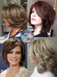 Shag hairstyle - all times favorite for adding volume to thin hair and for taming thick hair