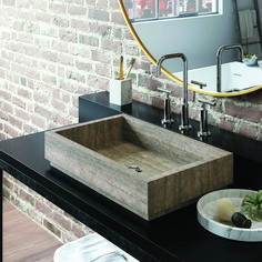 Lehi Marble Bathroom Vessel Sink Rectangle Modern Ff Stay Vessel Sink Bathroom, Bathroom Vanity Cabinets, Wooden Bathroom, Bathroom Faucets, Marble Bathrooms, Bad Styling, Ideal Bathrooms, Modern Sink, Sink Design