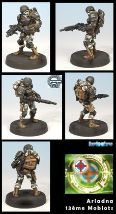 Although an old miniatures design, this shows how effective two-colour camo can be. I might have to borrow this scheme when I get around to doing my ALEPH army.