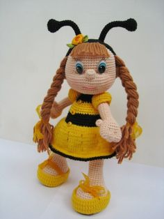 :-)crochet and knit both  but cute for inspiration. (In Russian I think)