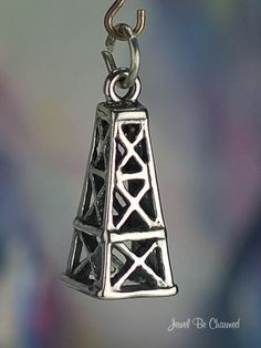 Oil Derrick Charm Sterling Silver for Oil Wells by jewelbecharmed, $12.95 - Etsy