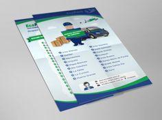 Diseño de flyer para la firma Ecapack con motivo de la incorporación de nuevos destinos en la provincia de Córdoba