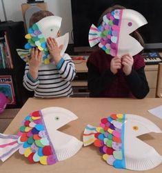 Art 725290714970939163 - Tuto Vidéo: Poisson d'avril en assiette en carton! – Allo Maman Dodo Source by elogfe Summer Crafts For Toddlers, Easy Crafts For Kids, Toddler Crafts, Toddler Activities, Projects For Kids, Preschool Activities, Diy For Kids, Diy Crafts, Neon Crafts