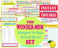 Win Some FREE TidyLady Printables!