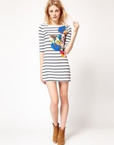 French Connection Stripe Printed Dress at asos.com