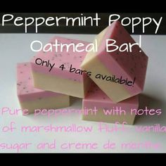 Hey, I found this really awesome Etsy listing at https://www.etsy.com/listing/247516854/peppermint-poppy-seed-bars-square-bar
