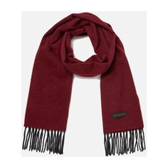 PS by Paul Smith Men's Twill Cashmere Scarf - Red (2.695 CZK) ❤ liked on Polyvore featuring men's fashion, men's accessories, men's scarves, mens red scarves, mens cashmere scarves and mens scarves