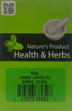 Natures Product Health & Herbs Gingko Leaves Cut 60g Gingko Biloba
