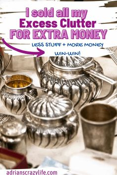 You can make tons of money from your excessive clutter. It's easier and more profitable than you'd think. And less STUFF plus more money in your pocket = WIN-WIN! Best Money Saving Tips, Saving Money, Diy Cleaning Products, Cleaning Hacks, Debt Snowball Spreadsheet, Hobby Supplies, Organized Mom, Money Savers, Get Out Of Debt