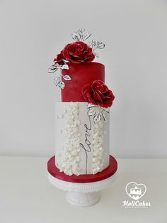 Wedding in red by MOLI Cakes