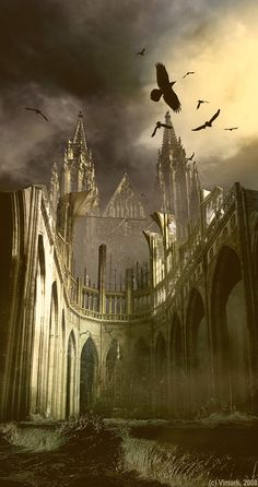 Somber Castle by *vimark on deviantART