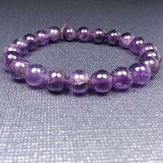 Stretch Amethyst Bracelet - Reiki Charged, Purple Bracelet, Amethyst Stretch Bracelet, Stretch Bracelet, Gemstone Bracelet, Stackable #etsy #handcraftedjewelry